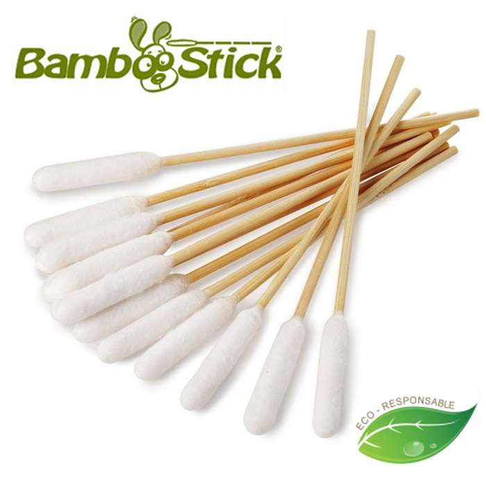 Zumint Coton-tige,Bamboo Sticks Drawer Carton Coton-tige,/Écouvillon en Coton /à Double Oreille