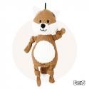 Peluche chien Renard en toile de jute 31cm