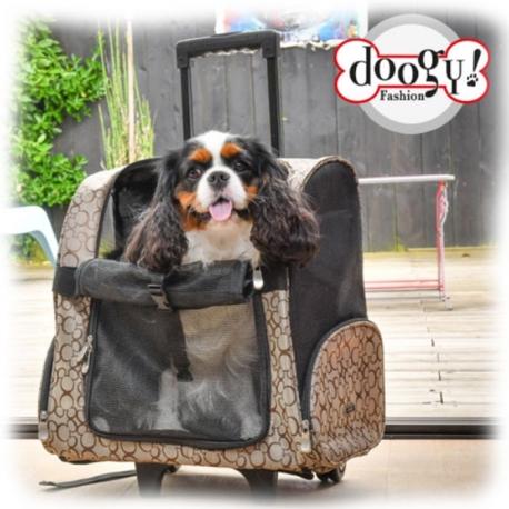 Sac dos Doogy Dynamic Beige et Trolley pour chien