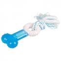 Jouet Os pour chien Denta Toy et corde