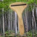 Etrille Bambou pour chien 16 dents rotatives