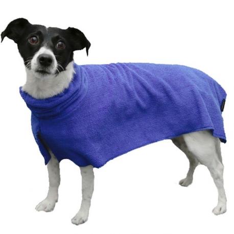 Peignoir pour chien en microfibres