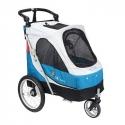 Poussette pour chien 3 roues Aventura small bleu