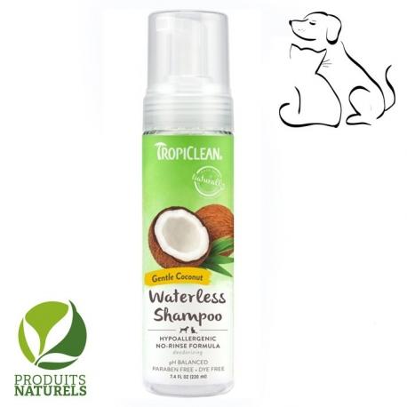 shampoing sans rincage naturel TropiClean Papaya Waterless