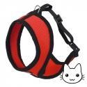 Harnais pour chat Active Rouge