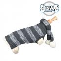 Pull chien Echarpe gris