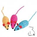 jouet souris chat colorée