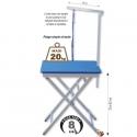 Table pliante portable en aluminium*