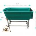 Baignoire Portative pour chien verte plastique