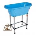 Baignoire Portative petit chien Bleu