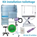 Kit installation toilettage