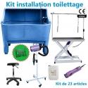 Kit 2 installation toilettage 23 articles