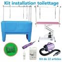 Kit d'installation toilettage 22 articles