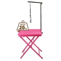 Table pliante portable rose