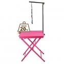 Table pliante portable rose