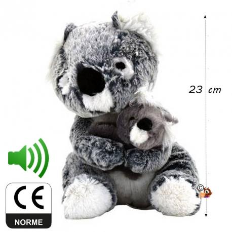 Peluche sonore Koala et son bébé