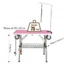 Table toilettage pliante renforcée maxi 75kg