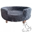 Sofa Chat ou Chien Gris