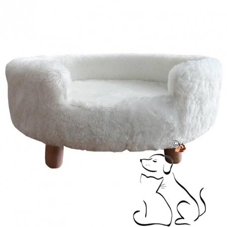 Sofa Chat ou Chien Blanc