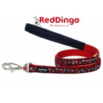 LAISSE RED DINGO ROUGE POIS