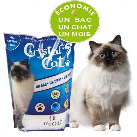 Litière économique CRYSTAL CAT 4 L