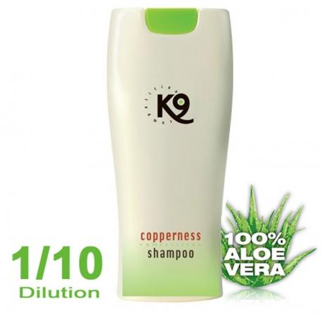 hampoing pour chien K9 shampoing Aleo Vera Copperness Rehausseur de couleur 300 ml