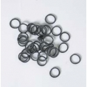 100 Elastiques York Noir 9mm
