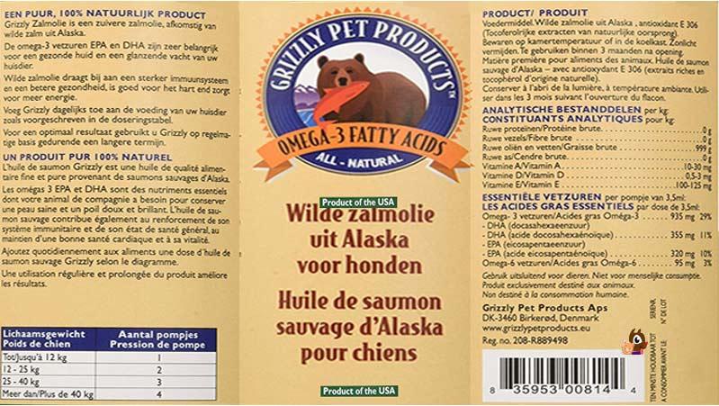 huile de saumon por chien grizzly
